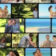 Montage of couples sharing moments together — Stock Video