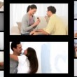 Montage of couples sharing romantic moments — Stock Video #19746293
