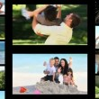 Montage der aktive Familien — Stockvideo