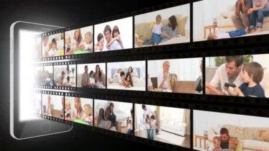 Montaggio di trascorrere del tempo in casa di famiglie — Video Stock