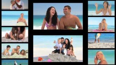 Montage van aan de kust — Stockvideo