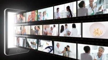 Montaggio sull'assistenza sanitaria — Video Stock