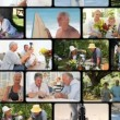 Montage of active elderly couples — Stock Video
