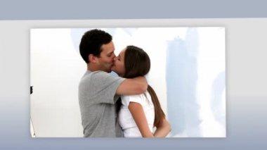 Montaggio di una coppie romantiche — Video Stock