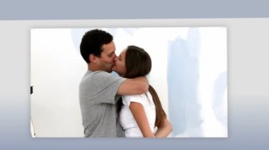 Montaje de una pareja — Vídeo de stock
