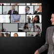 Stockvideo: Montage of business communication