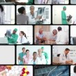 Royalty-Free Stock Vector Image: Montage of people in the hospital