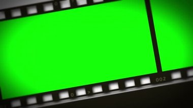 Montage of green film strip — Stock Video