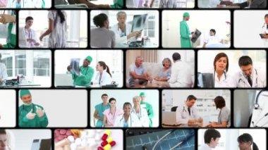Montage van in het ziekenhuis — Stockvideo
