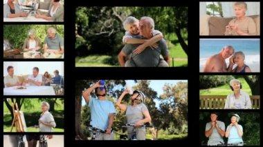 Montage of senior — Stock Video