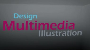 Animation about multimedia concepts — Stock Video