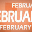 February animation — Stok Video #19825553