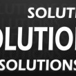 3d solutions animation - Stock Photo