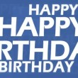 3d Happy birthday animation — 图库视频影像