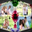 Stock Video: 3D Animation-Cube of Family Vacations
