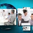 3D Animation of several Businessmeetings - Foto Stock