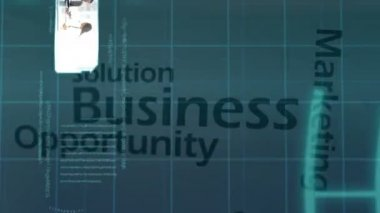 3D Animation on Business Solutions — Stock Video