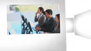 3D Animation on Business Communications — Stock Video