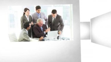 3D Animation on Business Meetings — Stock Video