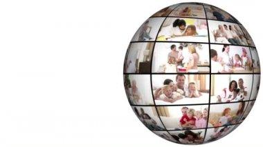 Aile sorunları üzerinde 3d animasyon — Stok video