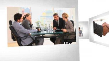 Montage de gens d'affaires — Vidéo