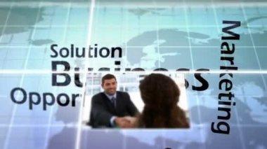 Animation 3d du monde des affaires — Vidéo