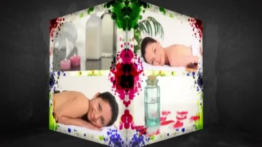 3D Animation-Cube of Wellness Treatments — Stock Video