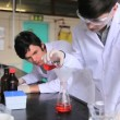 Scientists doing some experiments - Foto de Stock