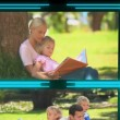 Stock Video: 3d cube with videos about family