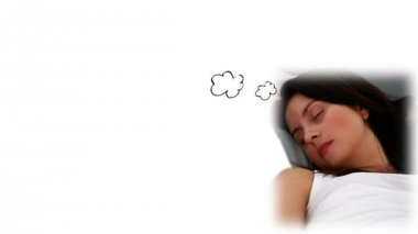 Mujer soñando con vacaciones — Vídeo de Stock