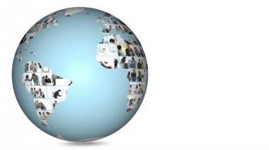Planet globe turning on itself — Stock Video