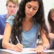 Beautiful student writing — Stok Video #20392759