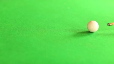 Cue pushing the cue ball — Stock Video