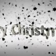 Merry Christmas animation with stars - Stock Photo