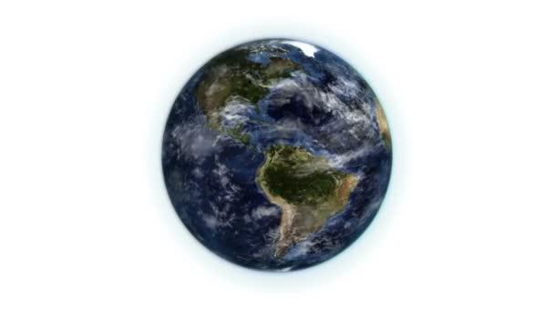 Terre en mouvement avec le déplacement des nuages avec l'image de la source avec la permission de nasa.org — Vidéo