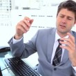 Businessman in a video conference — Stock Video
