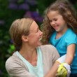 Mother and daughter gardening — Vídeo de stock