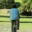 Couple spending time together while riding bikes — Stock Video #20870745