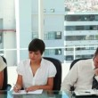 Business people working individually - Stock Photo