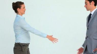 Handshake between two business — Stock Video