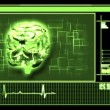 Stock Video: Digital interface featuring revolving brain