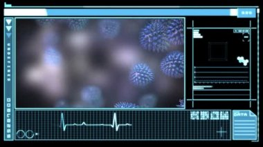 数字接口显示病毒 — 图库视频影像