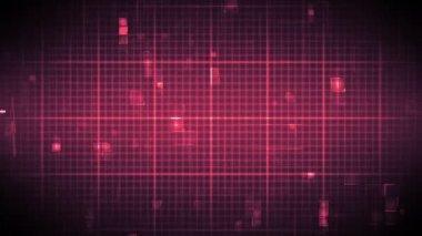 Snelle hartslag op raster achtergrond verplaatsen — Stockvideo