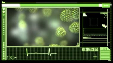 Digital interface showing virus — Stock Video