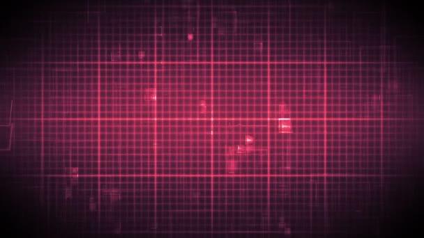 Frecuencia cardíaca rápida en mover el fondo de la red — Vídeo de stock