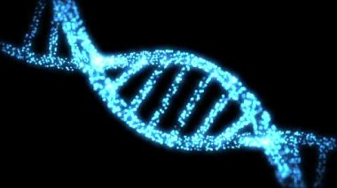 Appearing and disapearing DNA helix — Vídeo Stock
