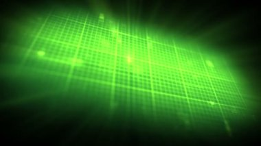 Green ECG on on digtial grid background — Vídeo de Stock