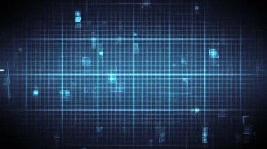 Blue ECG on moving digital background — Stock Video