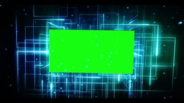 Croma key sobre fondo galáctico — Vídeo de stock