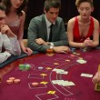 Stock Video: Playing blackjack